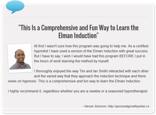 Henok Solomon Mastering The Dave Elman Induction Hypnosis Video And Audio Course Review